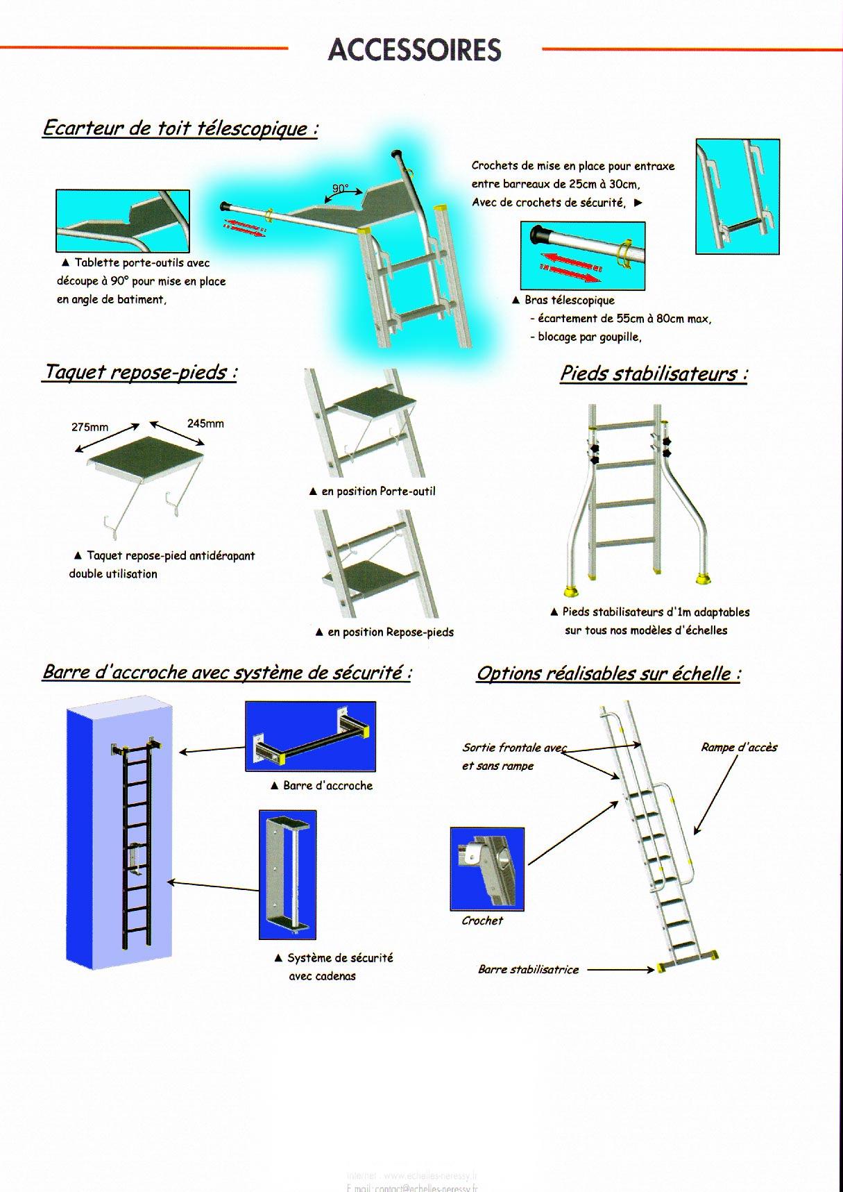 Espacement Entre Barreaux Garde Corps echafaudage-aluminium - photo du catalogue 2010 des