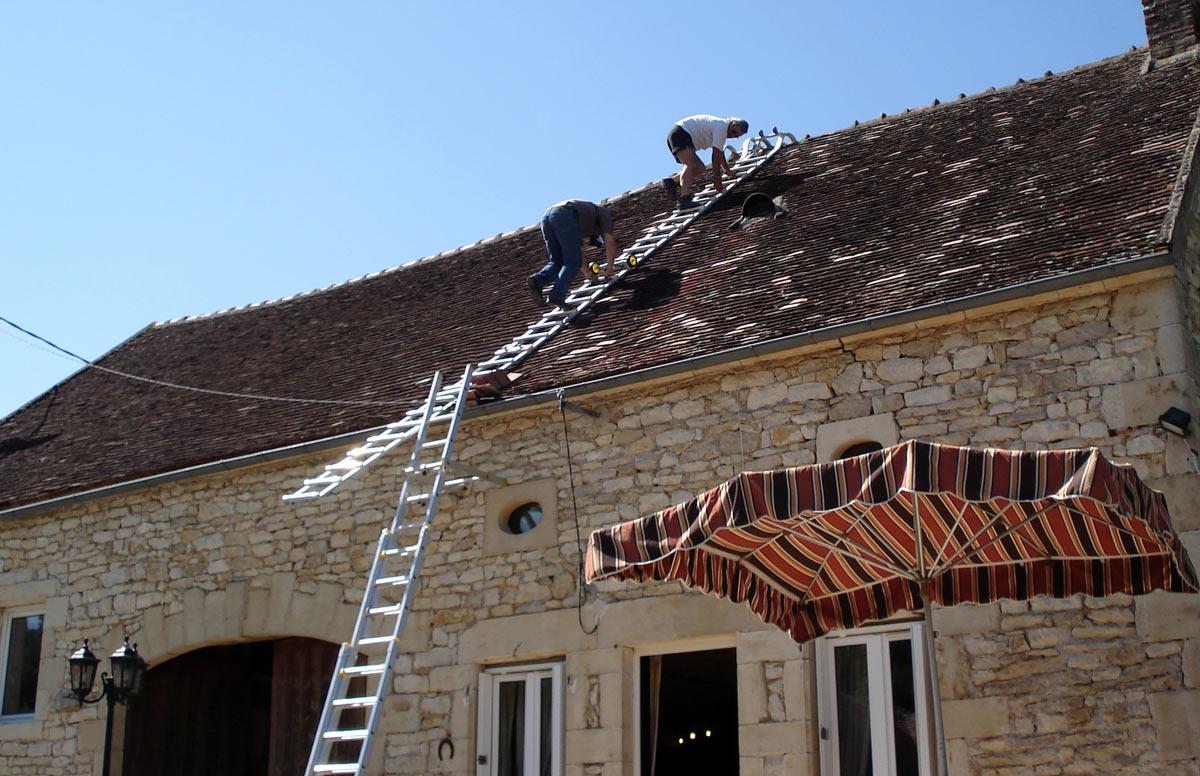photo 3 chelle de toit chelle de couvreur chelle de toiture chelle pour toiture. Black Bedroom Furniture Sets. Home Design Ideas