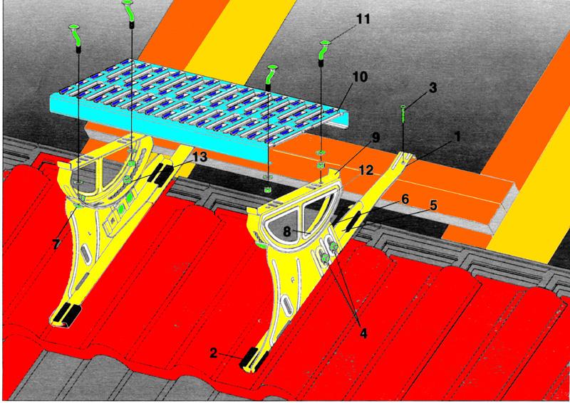 la page n 2 des taquets de toit plate forme de travail sur le toit. Black Bedroom Furniture Sets. Home Design Ideas
