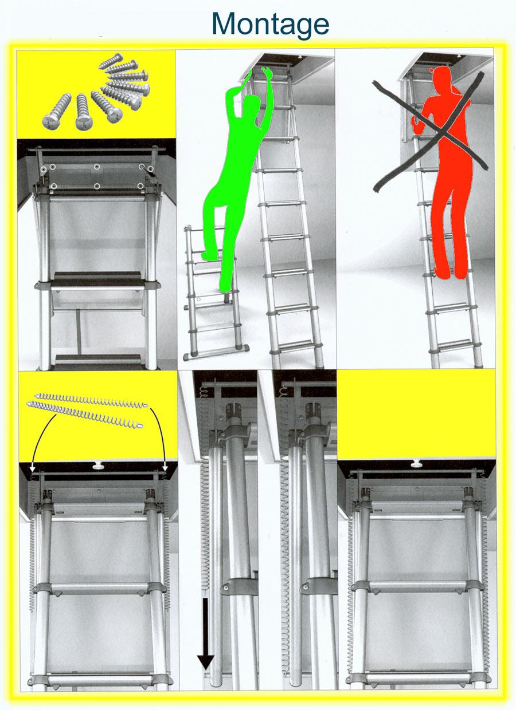 Ultra les échelles télescopiques de grenier à marches plates et pour ER-19